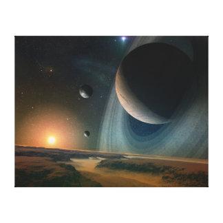 Planet scape leinwanddrucke