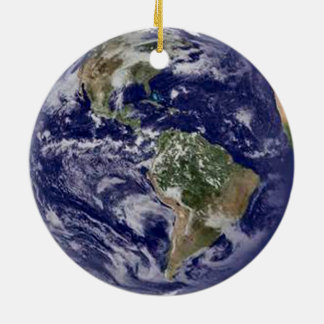 Planeten-Erde Rundes Keramik Ornament