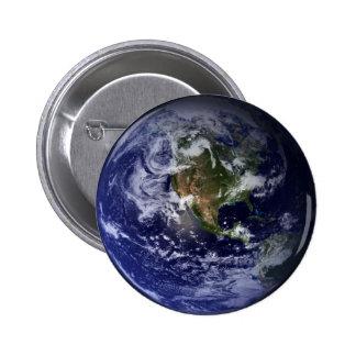 Planeten-Erdraum-Foto Runder Button 5,7 Cm