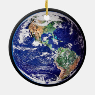 Planeten-Erdverzierung Rundes Keramik Ornament