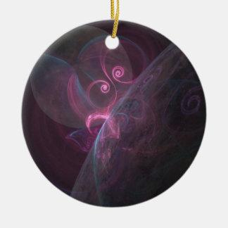 Planeten fractal rundes keramik ornament