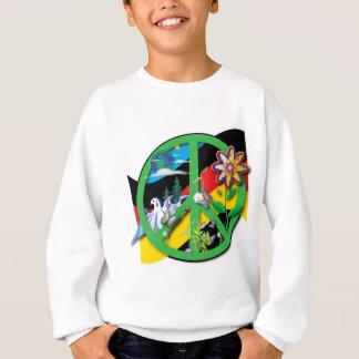 Planeten-Frieden Deutschland Sweatshirt