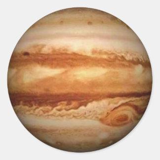 PLANETEN-JUPITER v.3 (Sonnensystem) ~ Runder Aufkleber