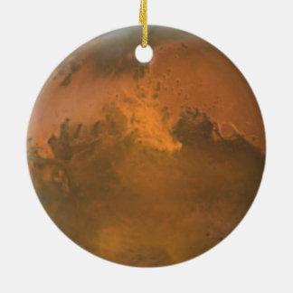 Planeten-Mars-volle orange Rundes Keramik Ornament
