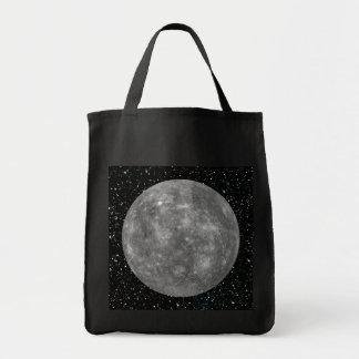PLANETEN-MERCURY-Sternhintergrund (Sonnensystem) ~ Einkaufstasche