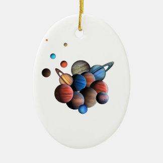Planeten Ovales Keramik Ornament