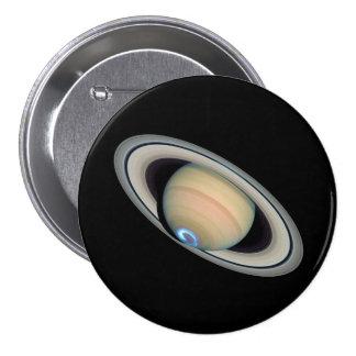 PLANETEN-SATURN (Sonnensystem) ~ Runder Button 7,6 Cm