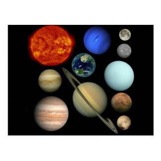 Planeten System Postkarte
