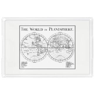 Planisphere-Serviertablett Acryl Tablett