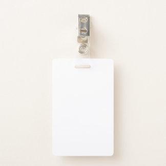 PlastikAbzeichen mit Metallclip Ausweis