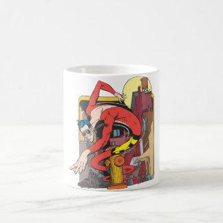 Plastikmann Form-Verschiebungen in der Stadt Tasse