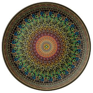 Platte des armenischen Alphabetes Porzellanteller