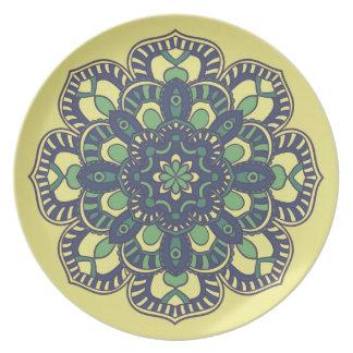 Platte mit Mandala-Blumenmuster-Druck Party Teller