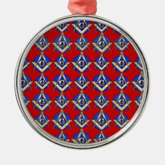 Platz-u. Kompass-Maurer Rundes Silberfarbenes Ornament
