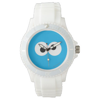 Plätzchen-Monster-großes Gesicht Armbanduhr
