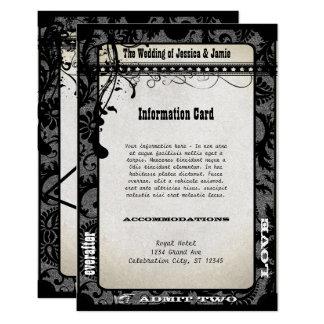 Playbill 8,9 X 12,7 Cm Einladungskarte