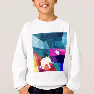 Playful baby elephant sweatshirt