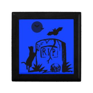 Playful schwarze Katzen-Geschenkboxen Kleine Quadratische Schatulle
