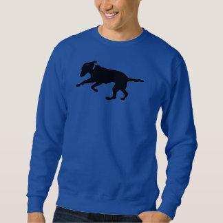 Playful schwarzer Labrador des Sweatshirts der