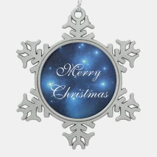 Pleiades oder die sieben Schwestern M45 Schneeflocken Zinn-Ornament