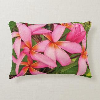 Plumeria-hawaiisches Blumen-Foto auf Throw-Kissen Deko Kissen