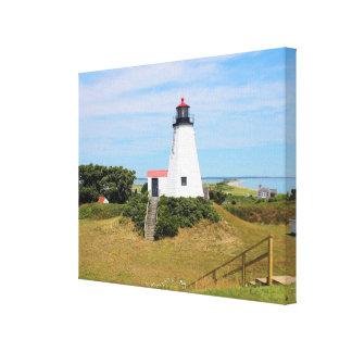 """Plymouth-Leuchtturm, """"der Gurnet"""" Massachusetts Leinwanddruck"""