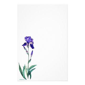 PMACarlsonElegant Iris Staionary Individuelle Büropapiere
