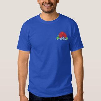 Poinsettia Besticktes T-Shirt