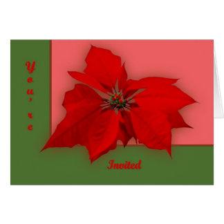 Poinsettia Karte