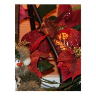Poinsettia-Weihnachten Postkarte
