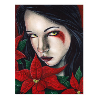 Poinsettia-Weihnachtspostkarte Postkarte