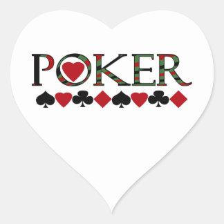 Poker Herzaufkleber