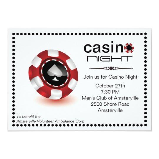 Poker Chip Kasino Party Einladung Zazzle At