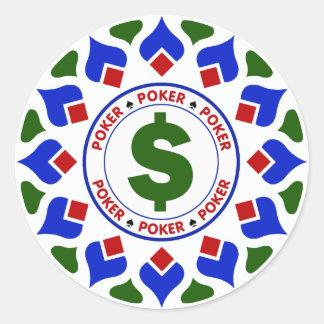 Poker-Chip mit Dollar-Zeichen Aufkleber