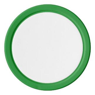 Poker-Chips mit grünem festem Rand Pokerchips