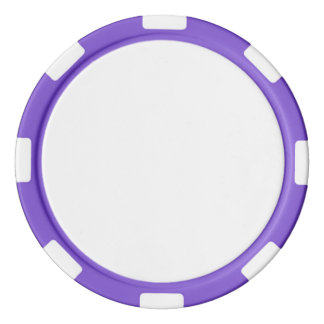 Poker-Chips mit lila gestreiftem Rand Poker Chips