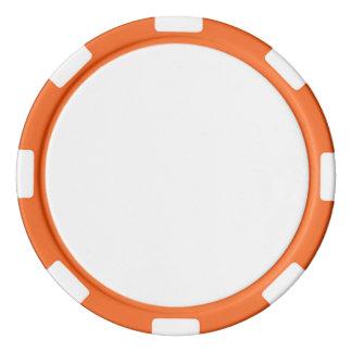 Poker-Chips mit orange gestreiftem Rand Poker Chip Set
