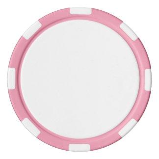 Poker-Chips mit rosa gestreiftem Rand Poker Chips