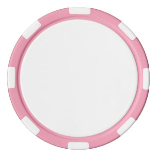 Poker-Chips mit rosa gestreiftem Rand Poker Jetons