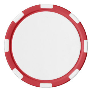 Poker-Chips mit rotem gestreiftem Rand Poker Chips