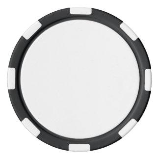Poker-Chips mit schwarzem gestreiftem Rand Poker Chips