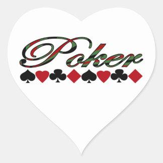 Poker Herz Sticker