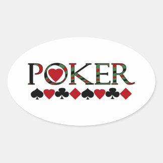 Poker Ovaler Aufkleber