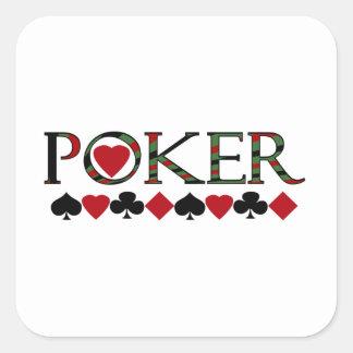 Poker Quadratischer Aufkleber