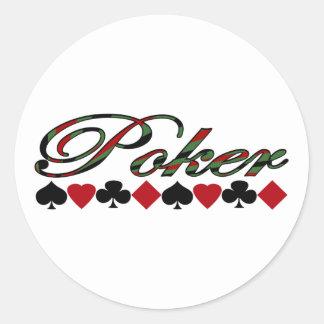 Poker Runder Aufkleber