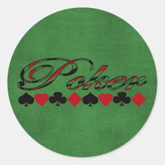 Poker Runder Sticker