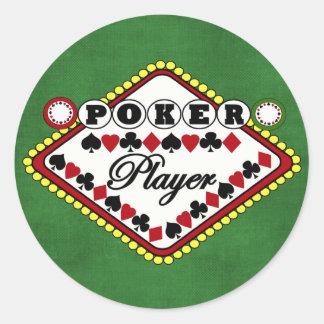 Poker-Spieler Runde Sticker