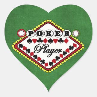 Poker-Spieler Herz-Aufkleber