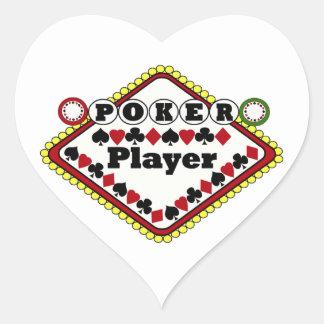 Poker-Spieler Herz Aufkleber