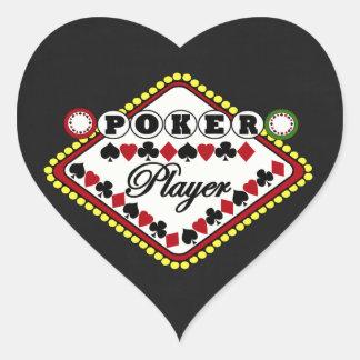 Poker-Spieler Herzaufkleber